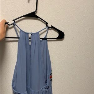 Lush Dresses - Blue dress with flowers